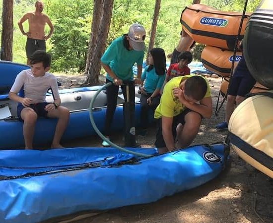 kayak boats preparation