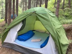 tent rafting camp forest