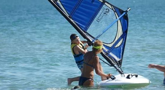 windsurf during summer camp