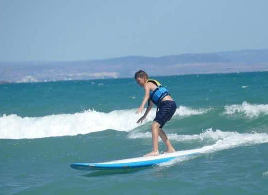 surf lesson for children