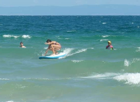 Hawaiian surf lessons