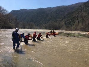 Rafting guides training