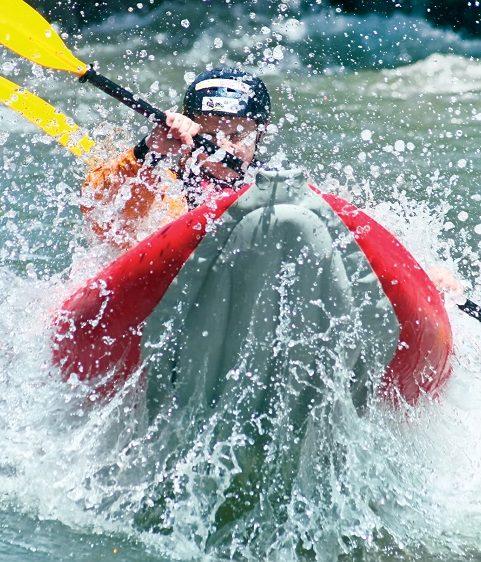 Downhill kayaking