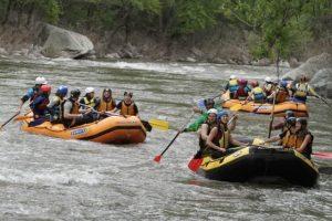 Outdoor adventure on Struma River