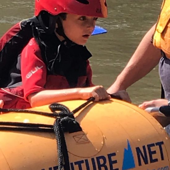 Summer vacation with kids and rafting