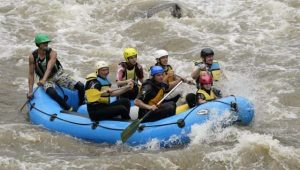 Summer rafting with kids