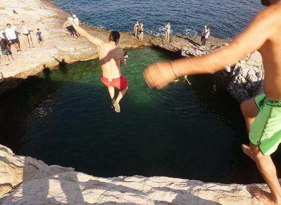 остров Тасос скокове