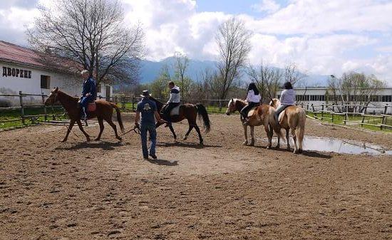 конна езда по време на тиймбилдинг